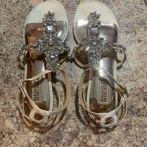 Badgley Mischka bridal sandals